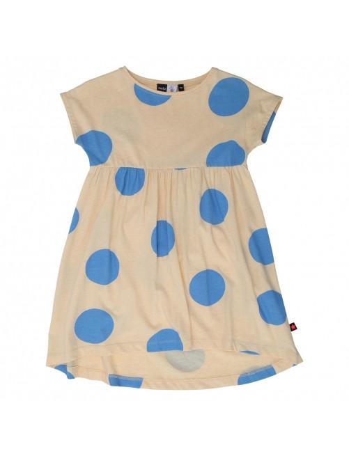 Vestido topos Molo Kids Cindy Giant Dots Amarillo/Azul
