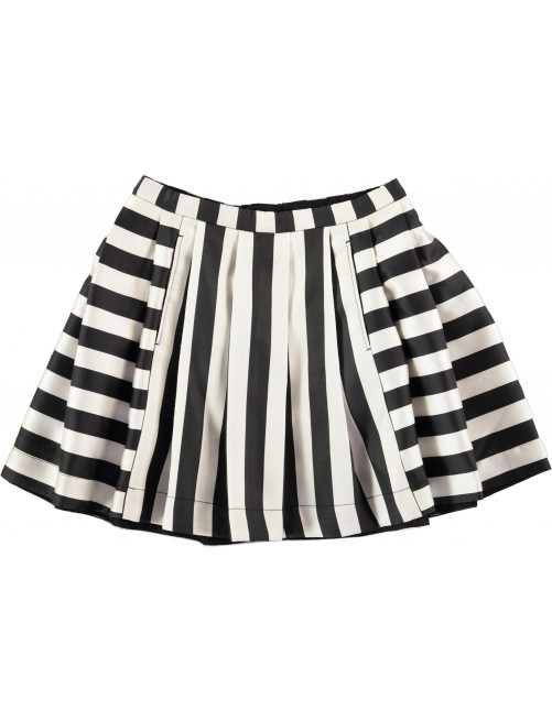 Falda molo Kids Becky Black White Stripe
