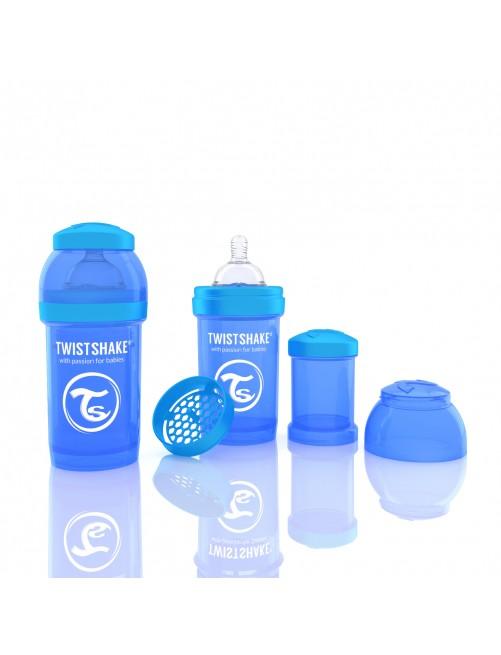 Twistshake Biberón Anticólico Azul 180ml