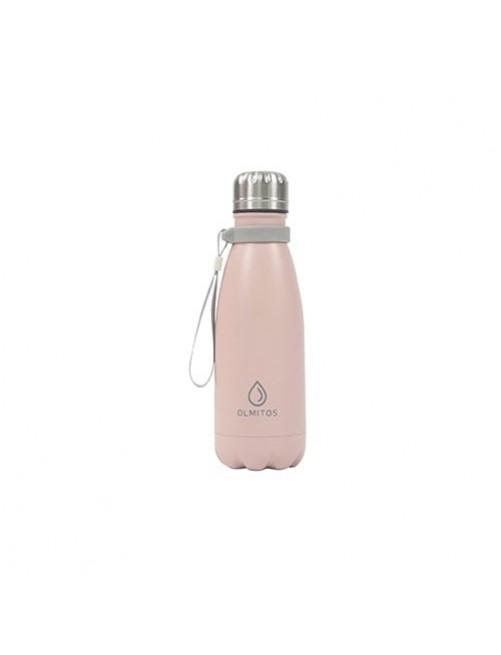 Botella-Acero-inox-Olmitos-Rosa-350ml-Bebe-Accesorios-Tienda-Online-Zaragoza-Alimentacion-Liquidos-Termo-Agua