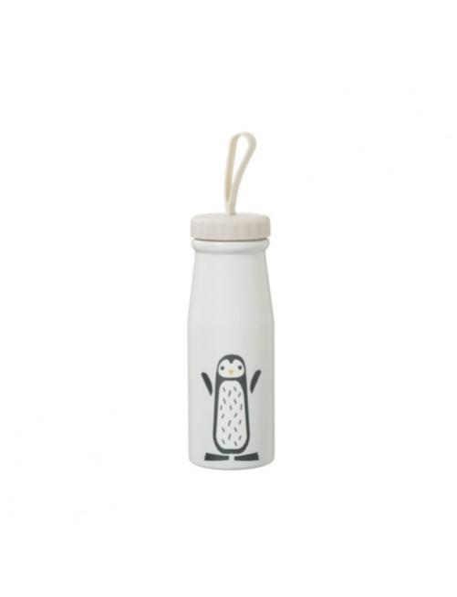 Botella-Termica-380ml-Aluminio-Pinguino-Blanco-Fresk-Bebe-Accesorios-Alimentacion-infantil-Tienda-Online-Zaragoza
