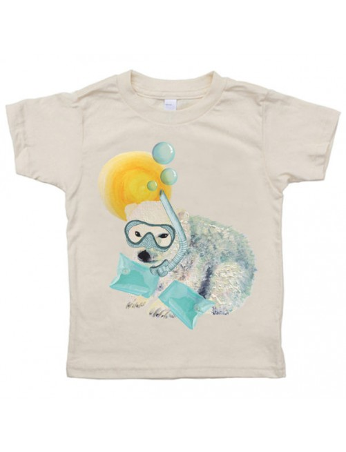 Camiseta Monikako Kids Baby Polar Bear Organic