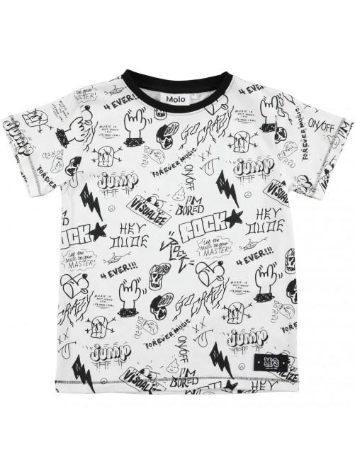 Camiseta Molo Kids Ragnij Teen Doodles moda infantil niños