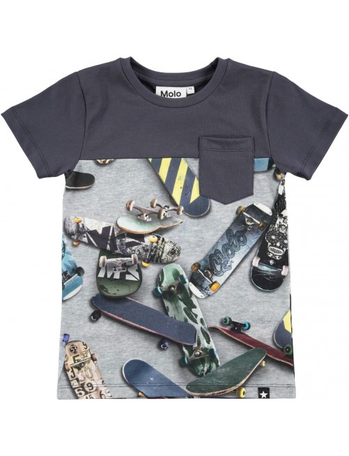 Camiseta Molo Kids Rubinsky Skate Moda infantil Niños