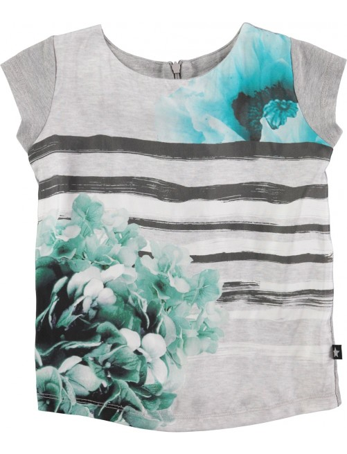 Camiseta Molo Kids Rubertha Nouveau Flower