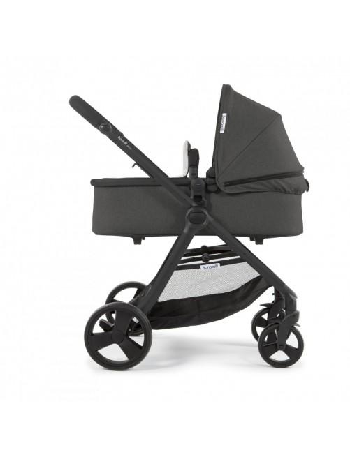 Carrito para bebé Bonarelli 300 2.0 Urban Grey.  Silla para bebé + Capazo + Silla Auto Puericultura Zaragoza chasis negro