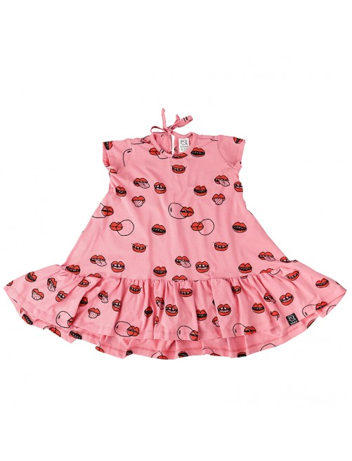 Vestido Dancing Kukukid Pink Lips Moda infantil zaragoza