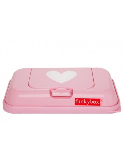 Dispensador FunkyBox To Go rosa corazon