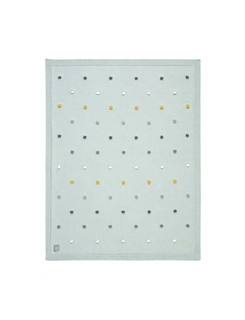 Manta-lassig-certificado-GOTS-Dots-light-mint-verde-accesorios-bebes-ecofriendly-puericultura-sostenible-tienda-online-zaragoza