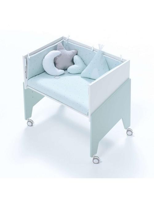 Minicuna de colecho EQUO Mint Alondra (5 en 1) con textil Mint y colchón, cuna 1 accesorios bebes puericultura tienda online zaragoza