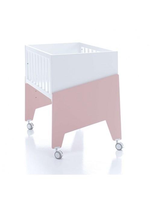 Minicuna de colecho EQUO Alondra (5 en 1) rosa, cuna, bebe, accesorios, puericultura, tienda online, zaragoza