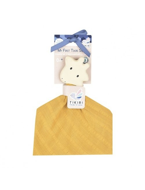 mordedor-muselina-caucho-natural-tikiri-mostaza-orange-jirafa-Front-accesorios-denticion-bebes-Puericultura-tienda-online-zaragoza