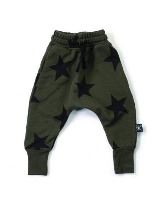 Pantalon Nununu Star Baggy Olive moda-infantil-diferente-alternativa-divertida-comoda-original