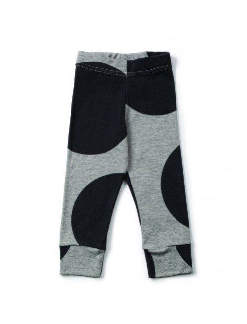 Leggings Nununu Circle Leggings Gris moda infantil bebe