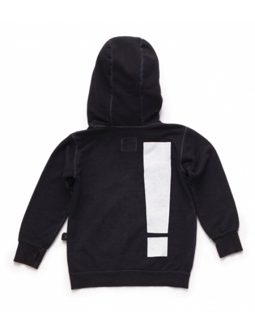 Sudadera Nununu Exclamation Hoodie Dyed Black1