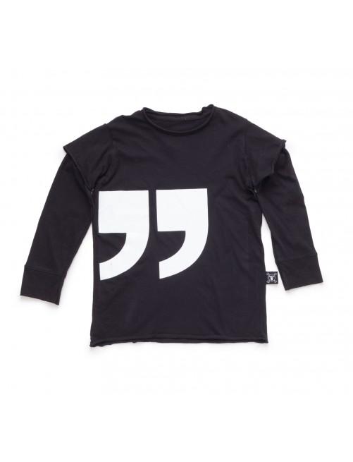 Camiseta Manga Larga Nununu Quotation Black