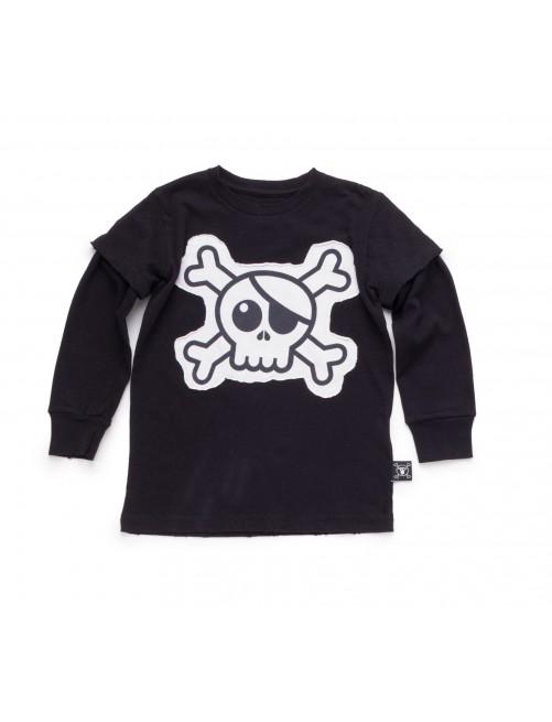 Camiseta Manga Larga Nununu Skull Patch