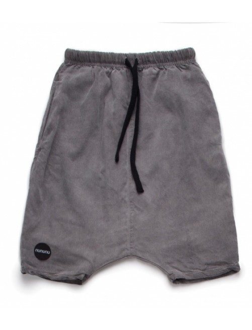 Pantalon Corto Nununu Low Crotch Baggy Shorts Dyed Grey