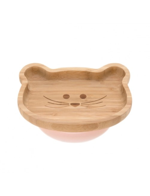 Plato-bamboo-wood-little-chums-mouse-rosa-bebe-accesorios-blw-alimentacion-infantil-tienda-online-zaragoza-puericultura