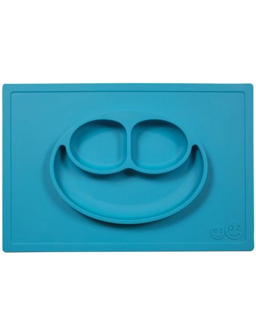 The Happy Mat EzPz azul plato bandeja