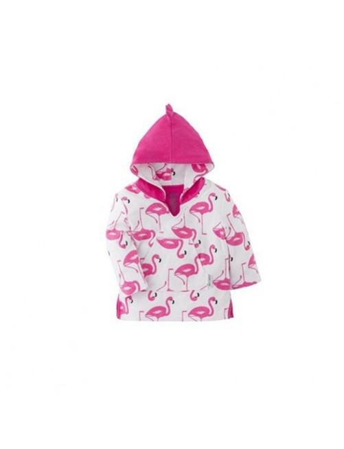 Poncho-Zoocchini-Flamenco-Flamingo-Bebe- Accesorios- Tienda-Online-Zaragoza-Moda-Infantil