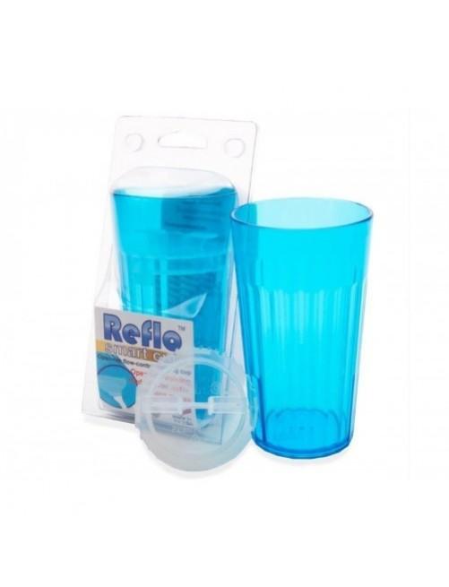 Vaso Reflo Smart Cup Azul antiderrame niños puericultura zaragoza beber solitos plastico