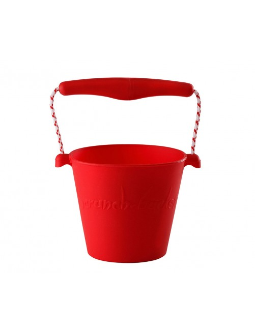 Cubo Silicona Scrunch Rojo verano niños juguete playa plegable silicona Zaragoza tienda online