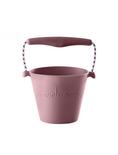 Cubo Silicona Scrunch Rosa Pastel verano niños juguete playa plegable silicona Zaragoza tienda online