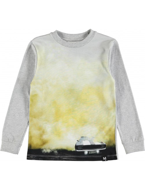 Camiseta Molo Kids Renzi Racercar Moda Infantil Alternativa Zaragoza tienda Online Carreras Amarillo