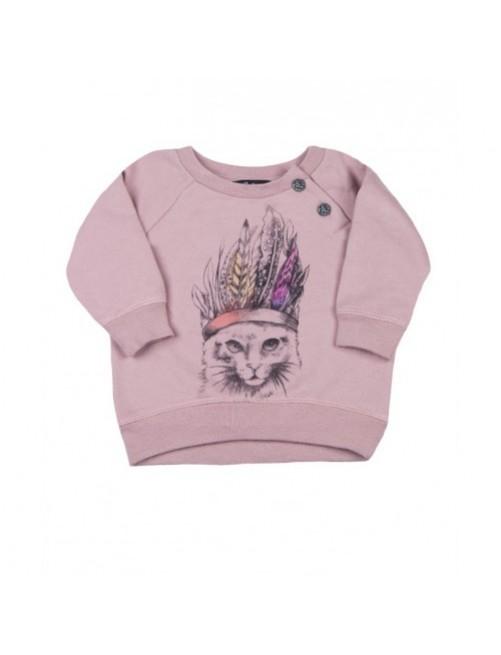 Sudadera I Talk Too Much Janis Cats moda-infantil-diferente-alternativa-divertida-comoda-original niña bebe