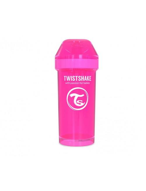 Vaso Aprendizaje Twistshake 360ml Rosa Agua Bebe Antigoteo