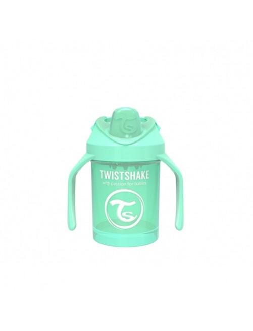 Vaso-Aprendizaje-Twistshake-230ml-Verde-Pastel-Accesorios-Puericultura-Bebes-Antigoteo-Tienda-Zaragoza-Online