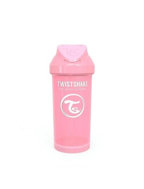 Vaso-Aprendizaje-Twistshake-360ml-Straw-Cup-Rosa-Pastel-Pajita-Accesorios-Puericultura-Bebes-Antigoteo-Tienda-Zaragoza-Online