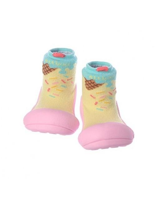 Zapatillas-Attipas-Ice-Cream-Rosa-Zapatos-Primeros-pasos-calzado-ergonomico-Bebes-accesorios-Puericultura-Tienda-Online-Zaragoza
