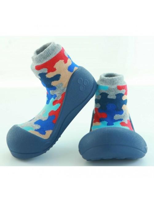 Zapatillas Puzzle Azul Attipas