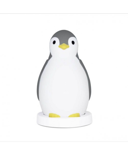 Lampara Quitamiedos Pam Pingüino Zazu Gris.