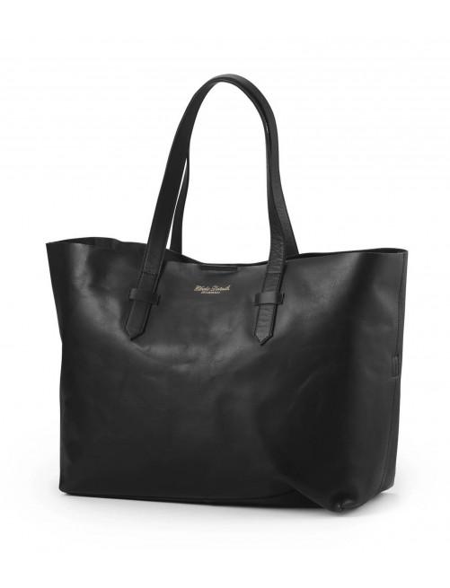 Bolso Cambiador Elodie Details Diper Bag Black Leather/Cuero Negro