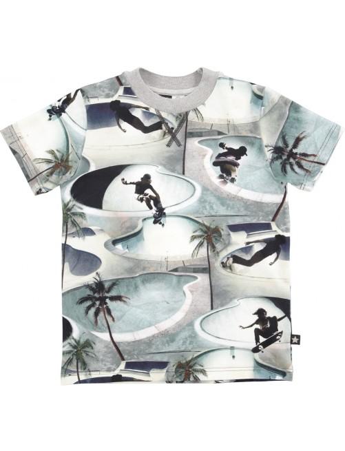 Camiseta Molo Kids Ralphie Skate Pool