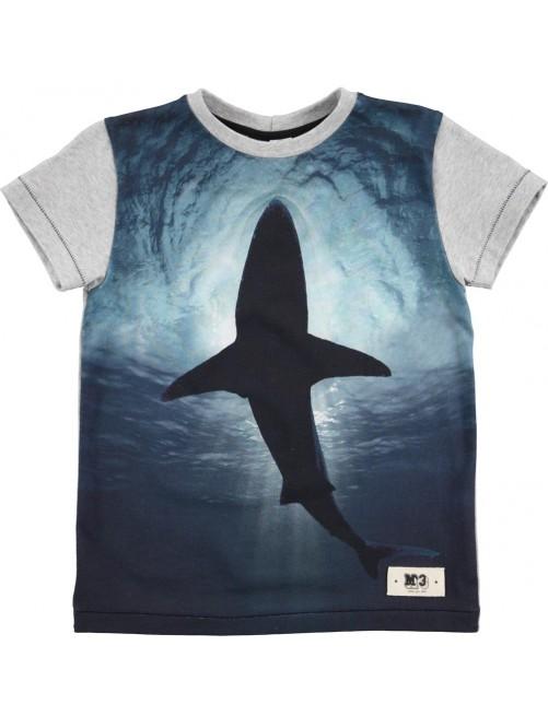Camiseta Molo Kids Ragno Shark Silhouette