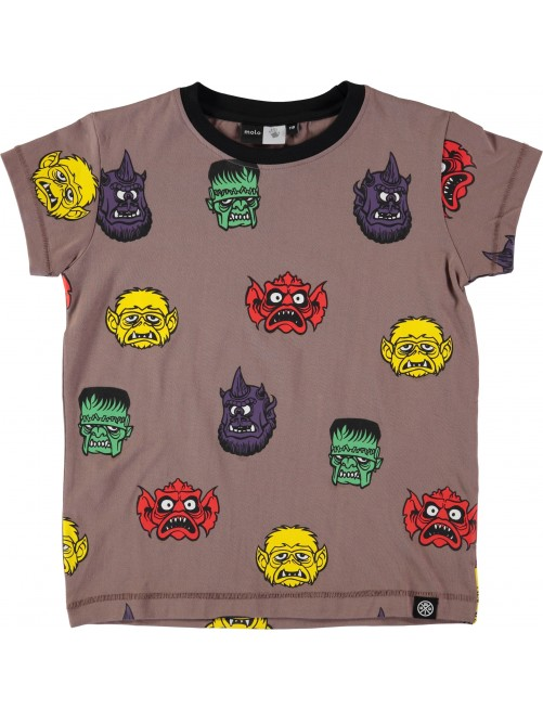 Camiseta Molo Kids Rexo Monster Heads