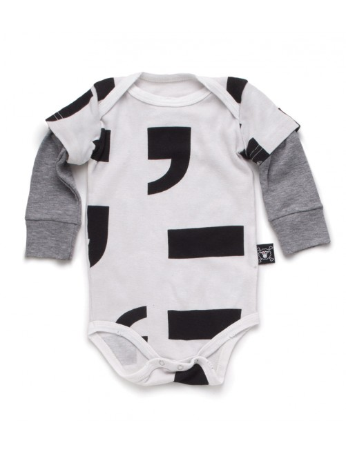 Body Nununu Punctuation Onesie White