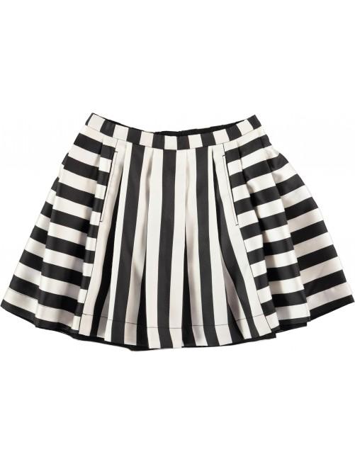 Falda molo Kids Becky Black White Stripe