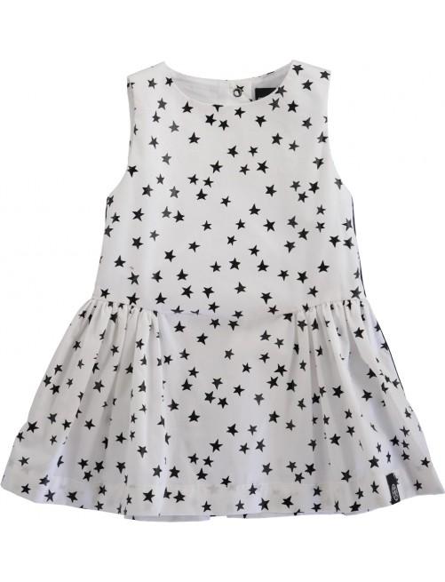 Vestido Molo Kids Carmen Scattered Star White