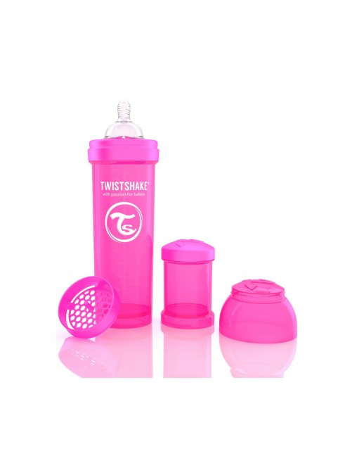 Twistshake Biberón Anticólico Rosa 330ml
