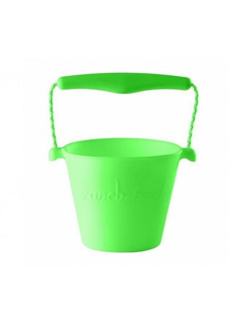 Cubo Silicona Scrunch Verde verano niños juguete playa plegable silicona Zaragoza tienda online
