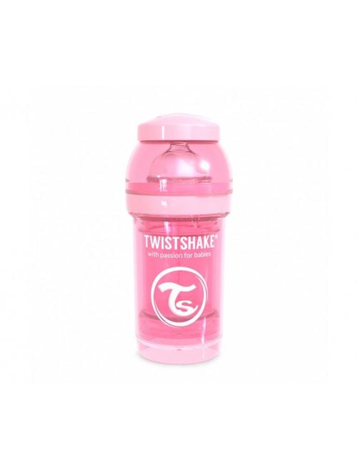 Twistshake Biberón Anticólico Rosa Pastel 180ml Puericultura Zaragoza Bebe