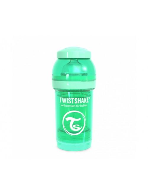 Twistshake Biberón Anticólico Verde Pastel 180ml Puericultura Zaragoza Bebe