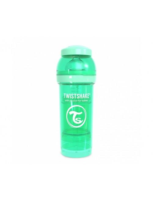 Twistshake Biberón Anticólico Verde Pastel 260ml Puericultura Zaragoza Bebe
