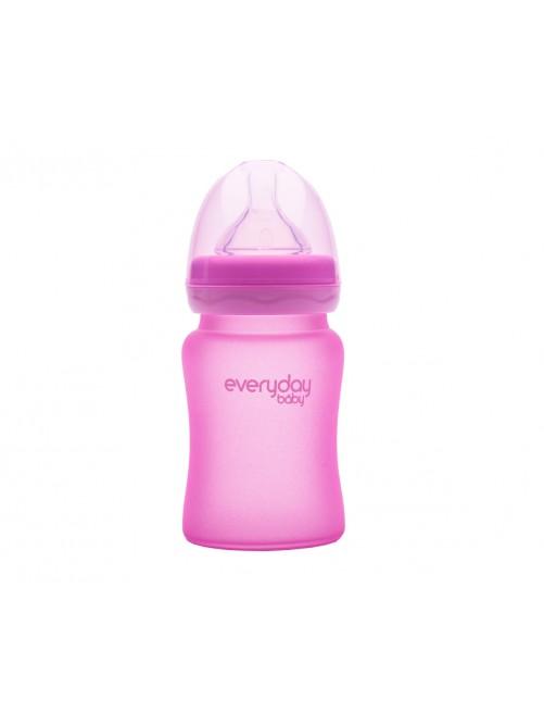 Biberón Cristal Milkhero Rosa 150ml Everyday Baby Bebe Puericultura Zaragoza