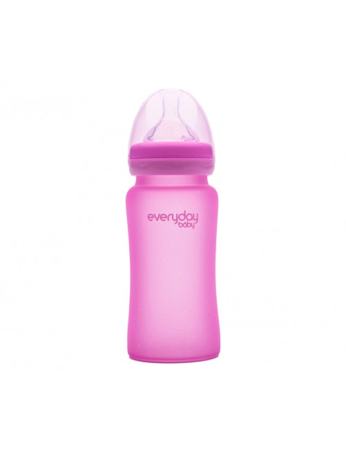 Biberón Cristal Milkhero rosa 300ml Everyday Baby Bebe puericultura zaragoza